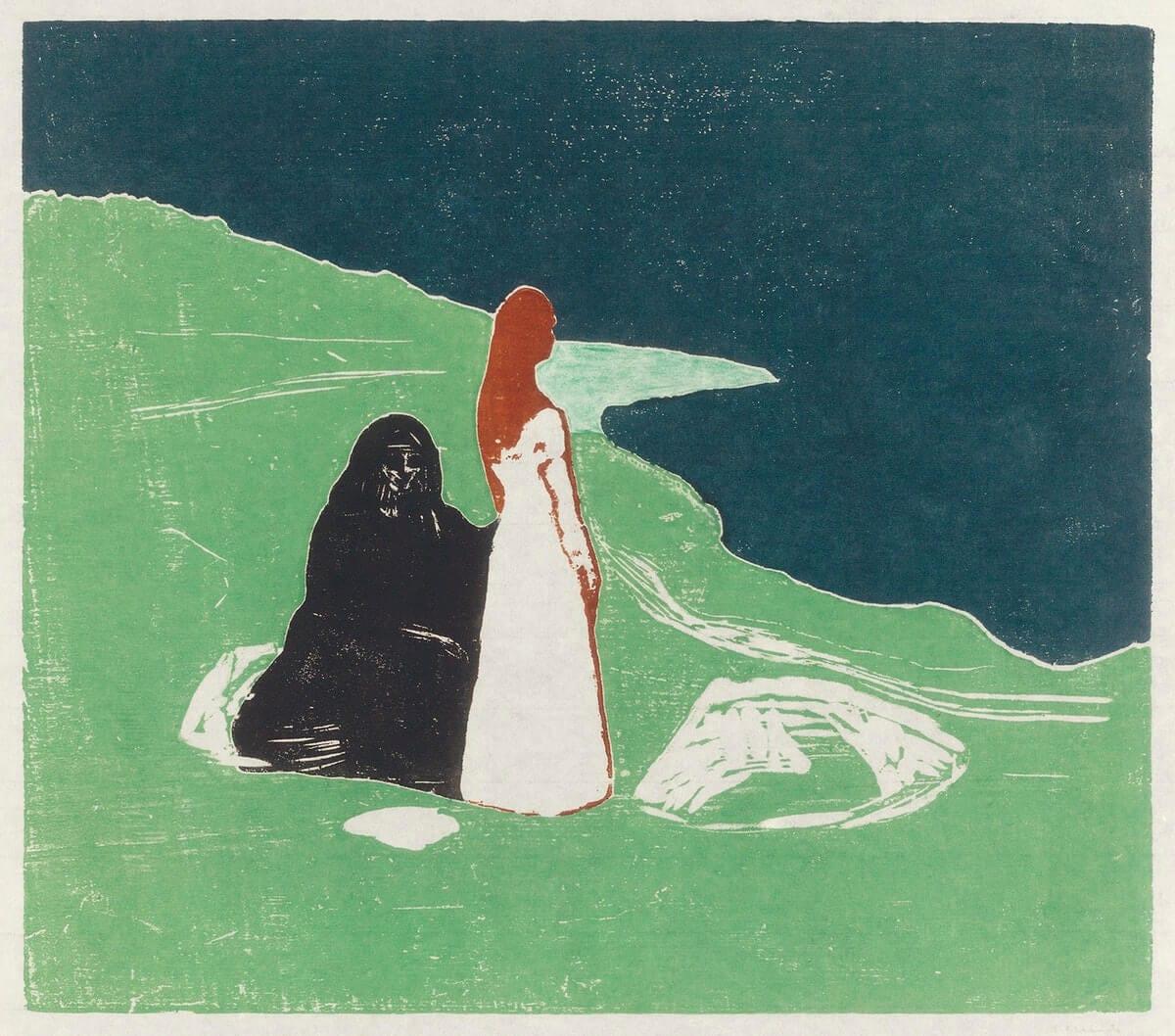 Cuadro di Munch - donna che guarda il mare