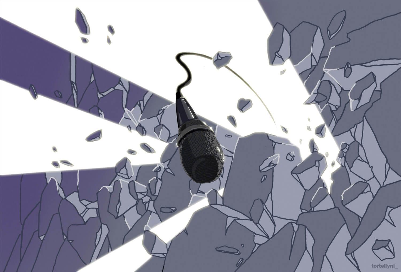 Microfono che Rompe un muro