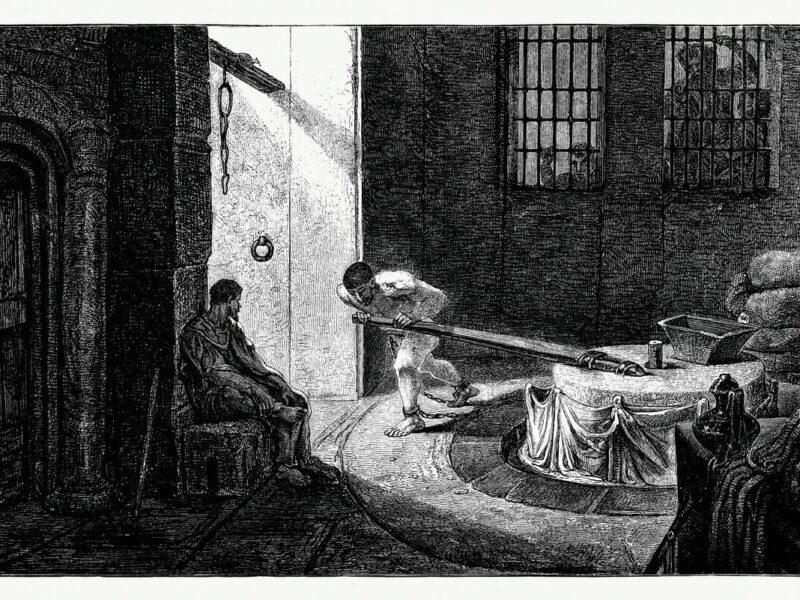 Samson Turning the Wheel (1862) from Gazette Des Beaux-Arts,
