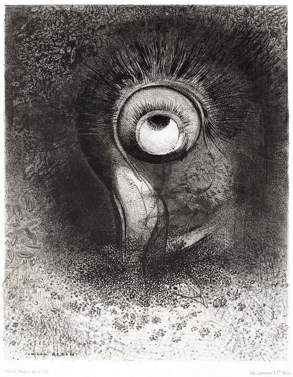 There Was Perhaps a First Vision Attempted by the Flower (1883) by Odilon Redon.