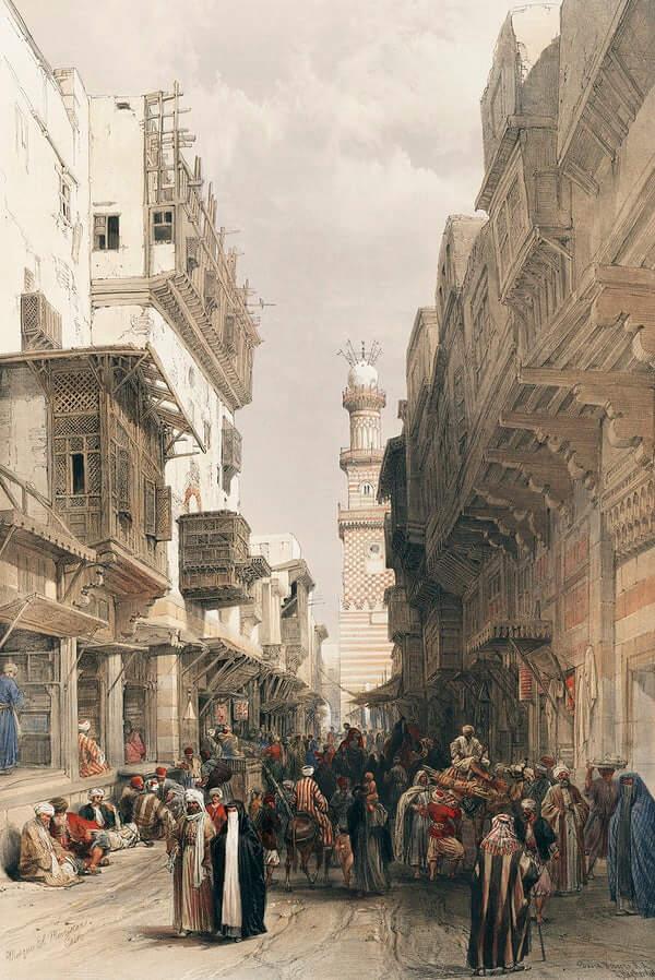 Mosque The Mooristan Cairo illustration by David Roberts (1796–1864)