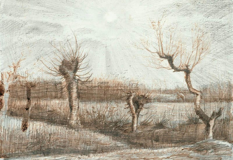 Tetards (Pollards) (1884) by Vincent Van Gogh.