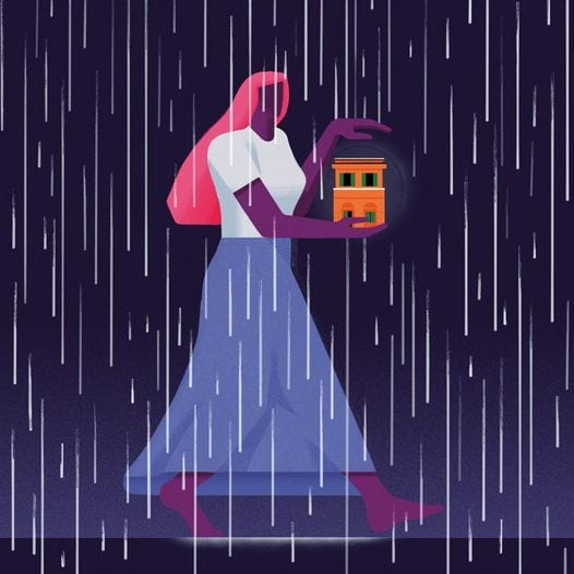 Luchadora sotto la pioggia