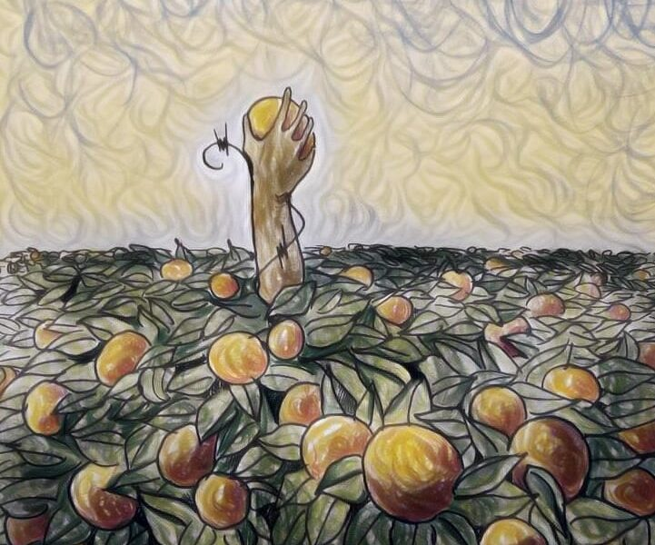mano tra le arance