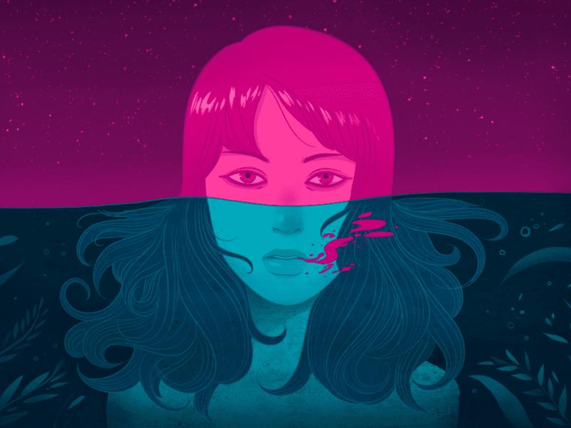 donna in acqua