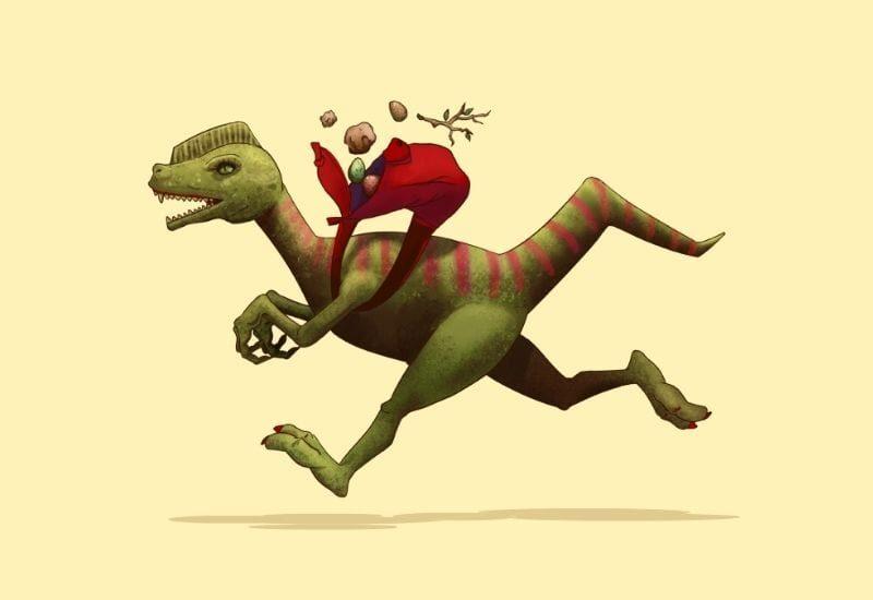 dinosauro che corre