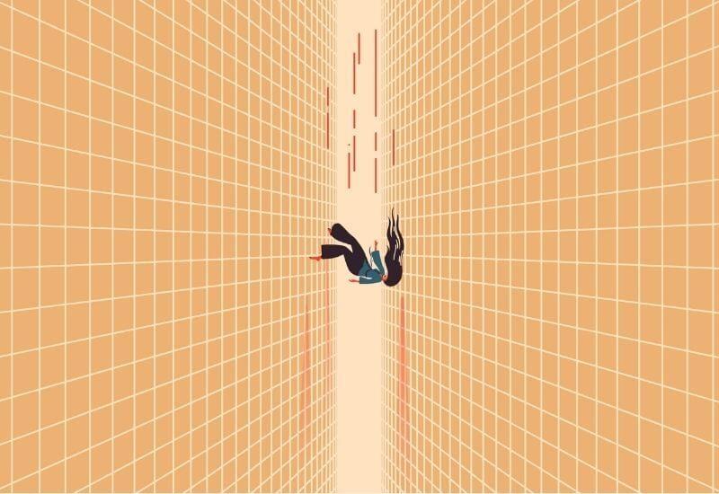 donna che cade