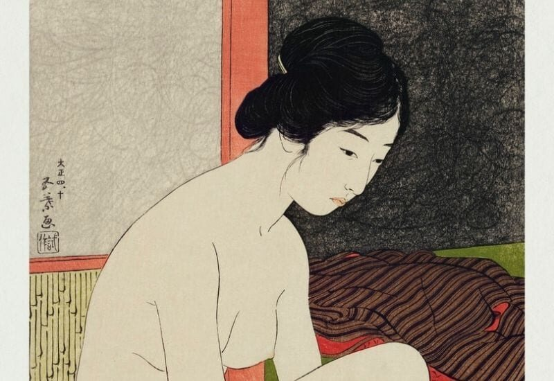 Yokugo no onna (1915) by Shinsui Itō. Original from Library of Congress