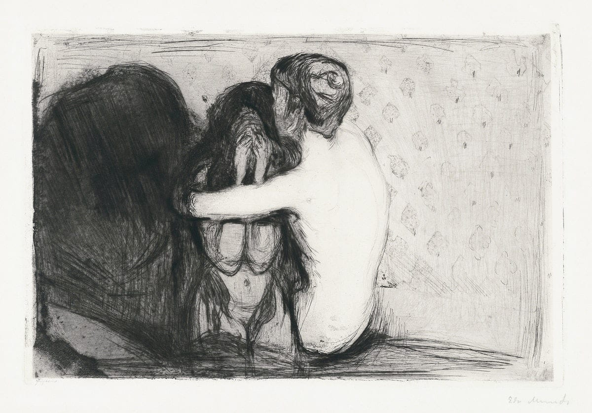 Consolation (1894) by Edvard Munch