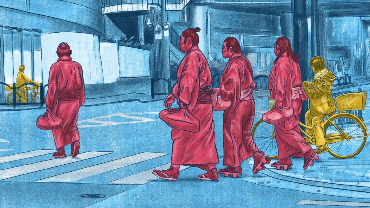 persone camminando in giappone