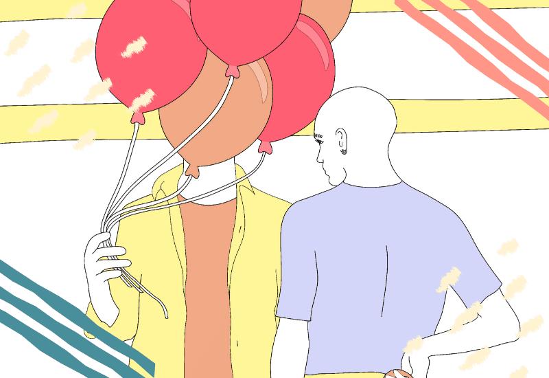 uomini a palloncino