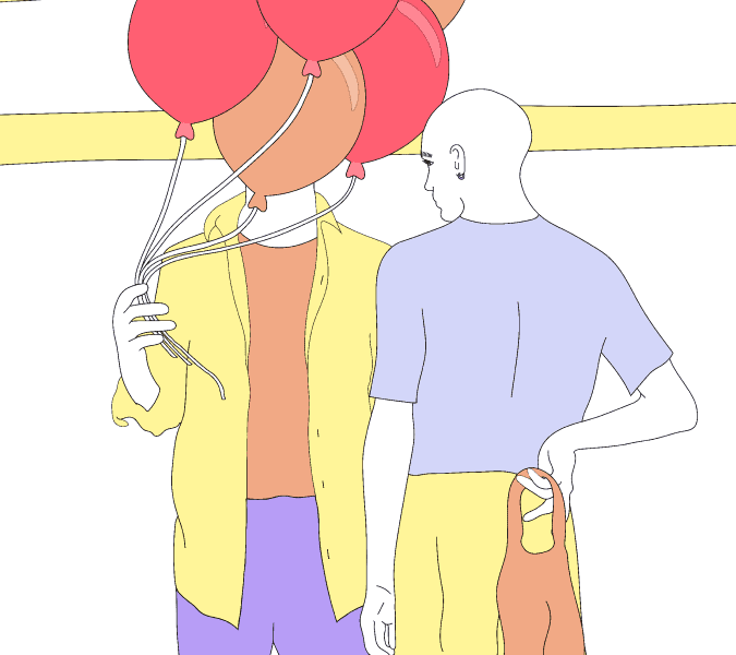 ragazzi e palloncini