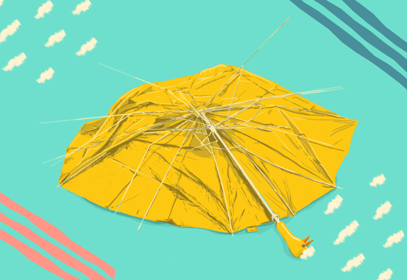 ombrello rotto