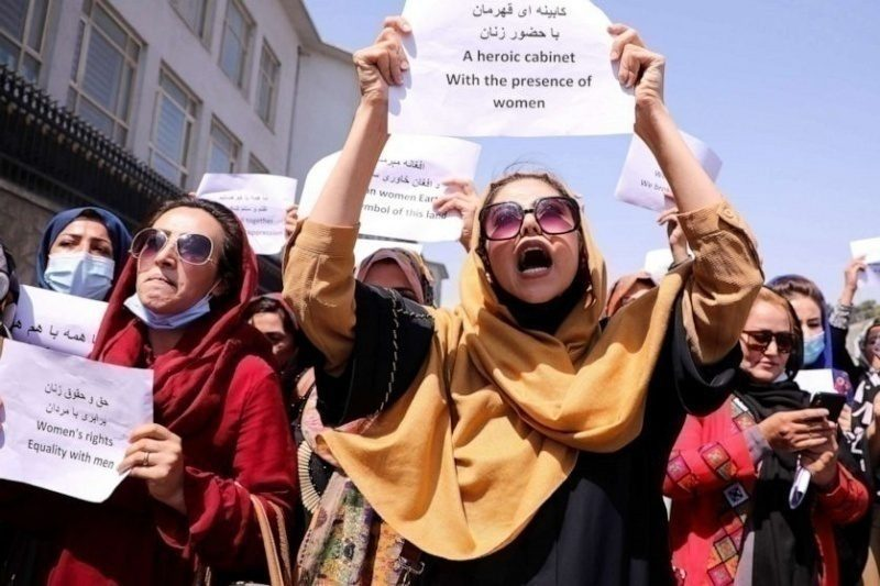 Afghanistan women protest